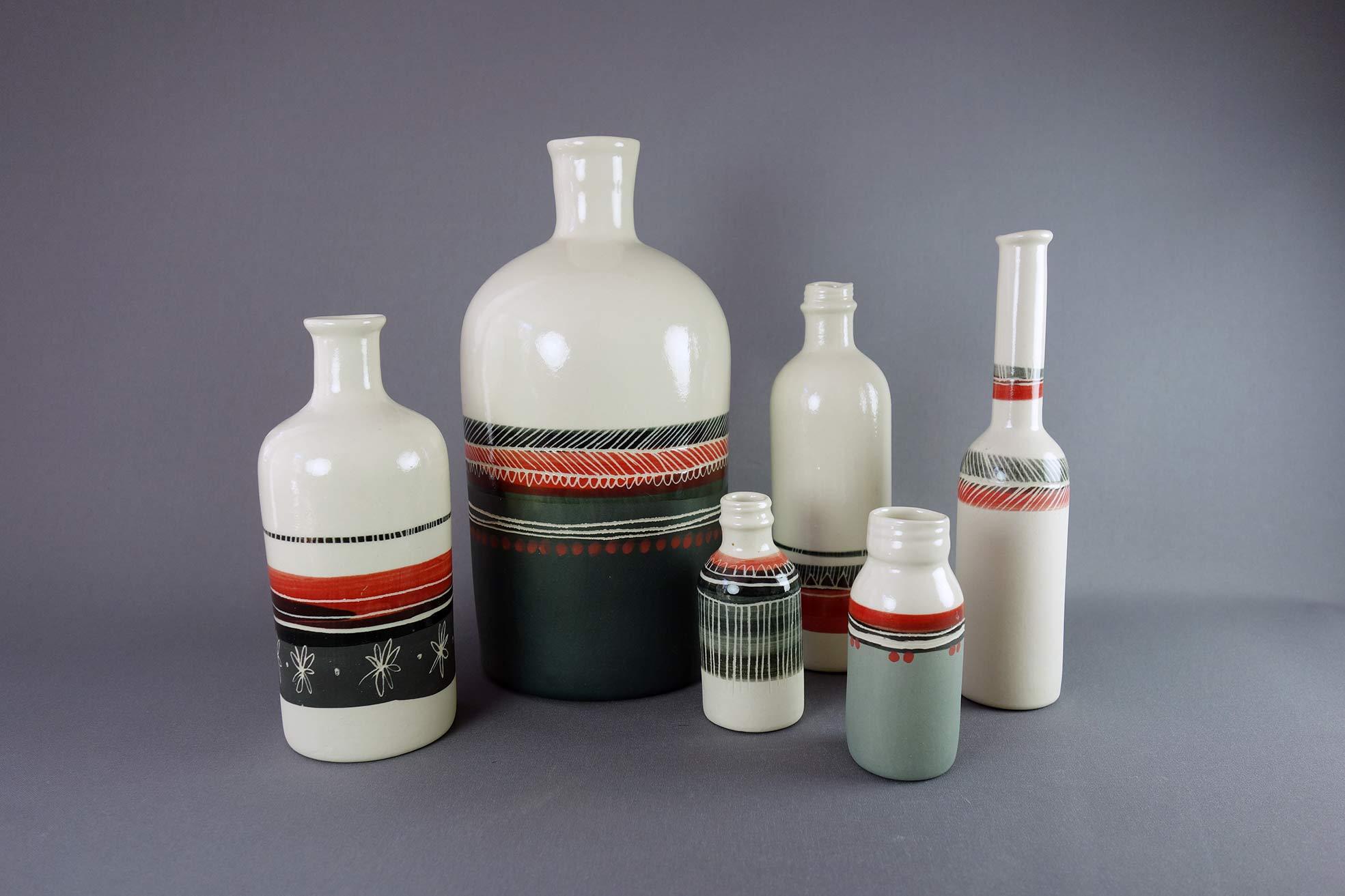 Bouteilles grès céramique artisanale à Saint-Etienne
