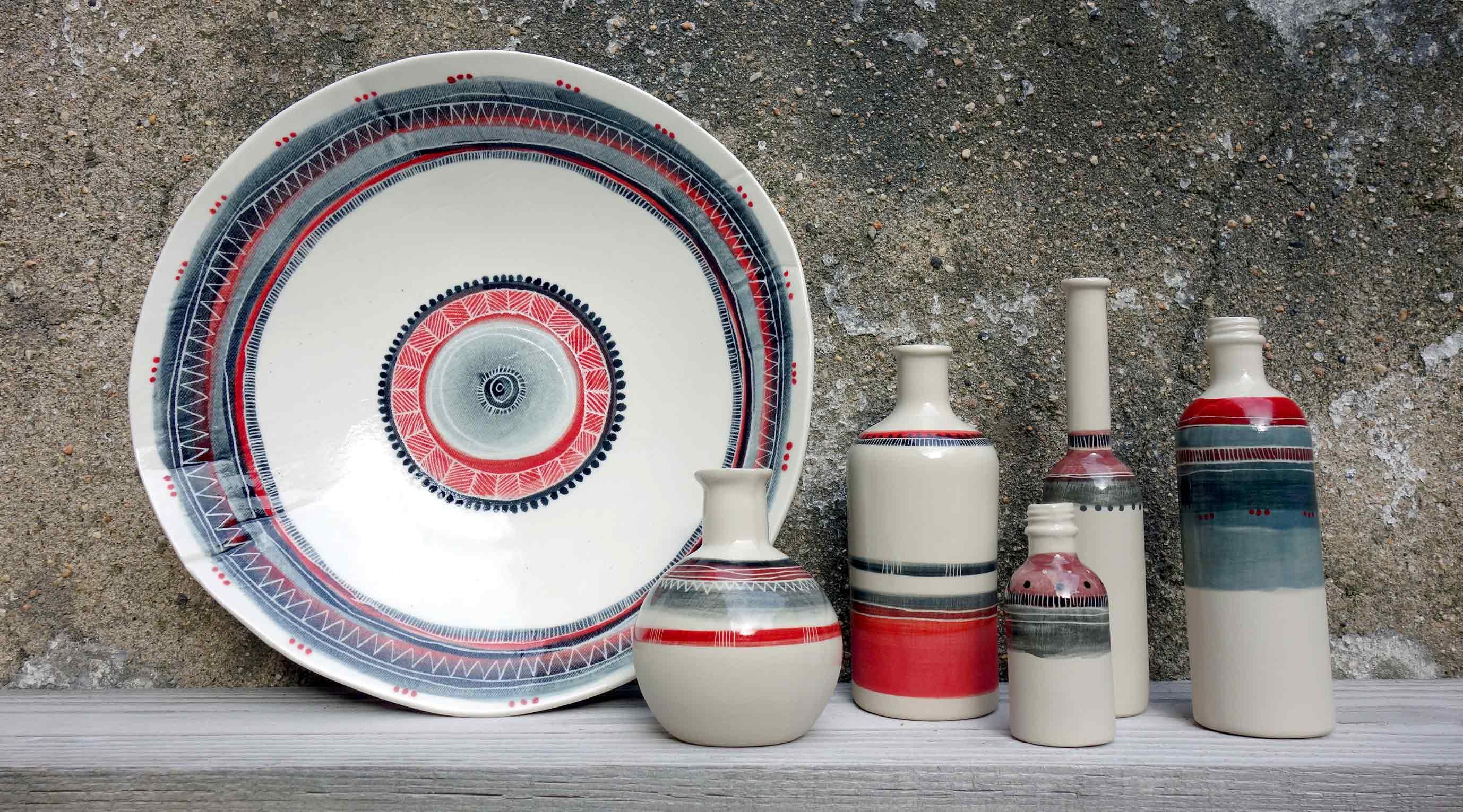 Porcelaine et grès rouge fait main à Saint-Etienne